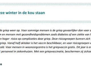 Artikels over griep